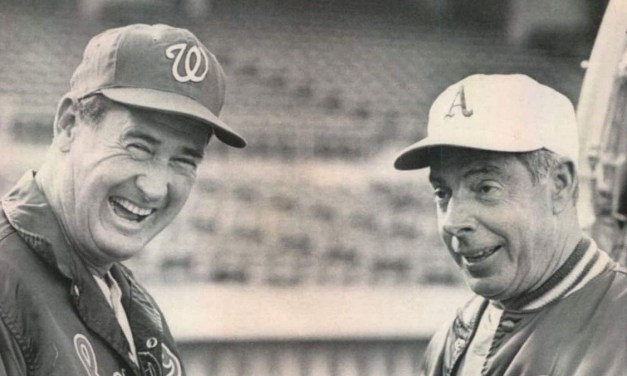 Ted Williams and JOE DiMaggio May 6, 1969 – Oakland Coliseum.