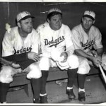 Burleigh Grimes, Babe Ruth, and Leo Durocher. 1938 Brooklyn Bench