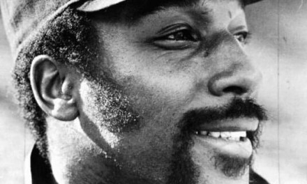 Willie McCovey plays his last game