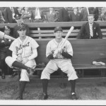 Hank Greenberg and Goose Goslin at Sportsman's Park before a World Series game in 1934.