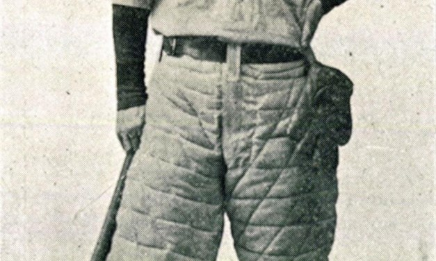 Popular Western novelist Zane Grey played some minor league baseball in his early days. Here he's pictured as a college player at the University of Pennsylvania in 1895.