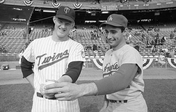 Jim Kaat and Sandy Koufax  1965 Fall Classic
