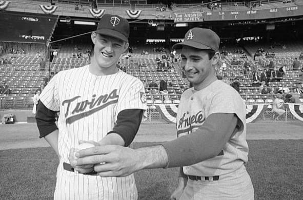 Jim Kaat and Sandy Koufax  1965 Fall Classic