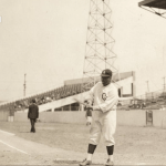 Negro Leagues great Oscar Charleston seen here in 1940 at Perry Stadium when he was player/manager for his hometown Indianapolis Crawfords