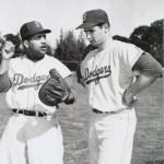 Sandy Koufax and Roy Campanella 1955