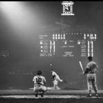 Billy Pierce pitcher, Sherm Lollar catcher and Ted Williams coming up to bat.