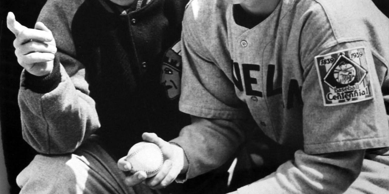 Bob Feller with manager Ossie Vitt.