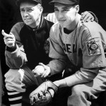 Bob Feller with manager Ossie Vitt