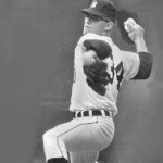 Tiger Denny McLain and Oriole Mike Cuellar end in a tie for the 1969 Cy Young Award