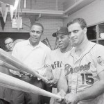 Willie Stargell, Willie Mays and Joe Torre 1965 All Star Game