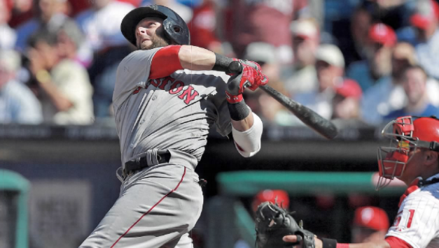 Dustin Pedroia becomes just the 2nd – secondbaseman in history to hit 2 homeruns on opening day