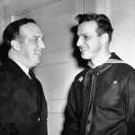 Stan Musial hitchhikes home after being discharged from the Navy