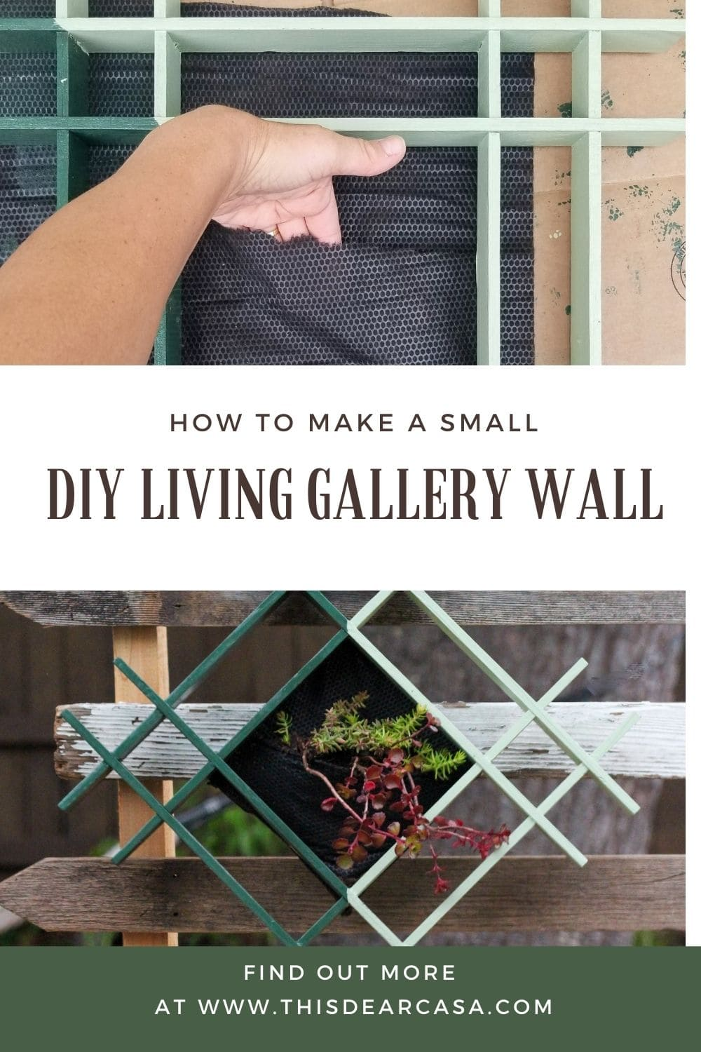 How To Make A Small DIY Living Gallery Wall