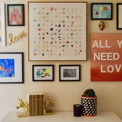 Gallery Wall Using Kids Artwork – Easy DIY!