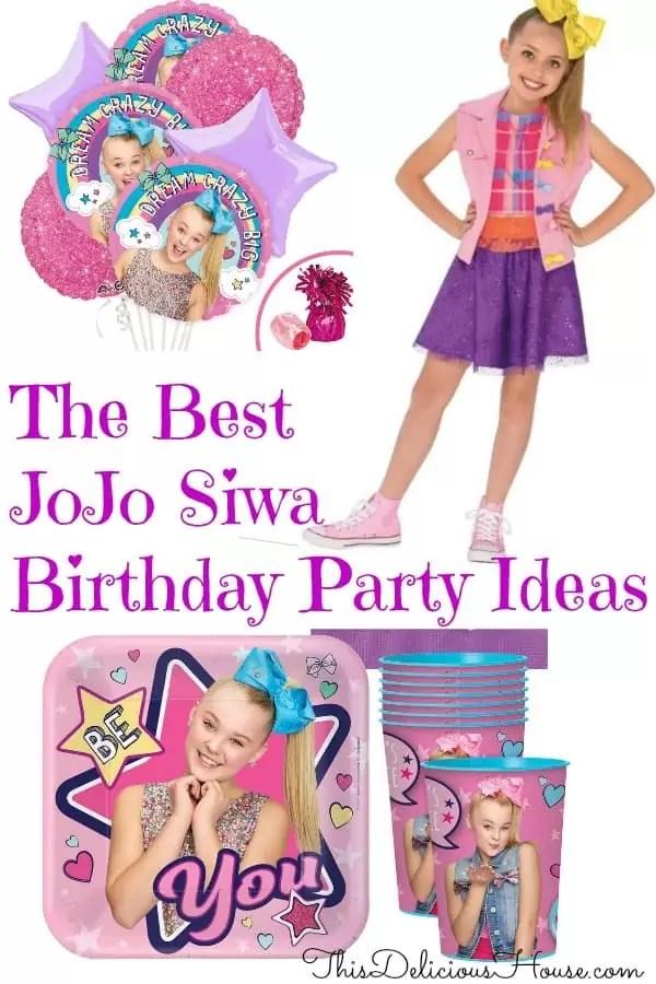 jojo siwa birthday party ideas and