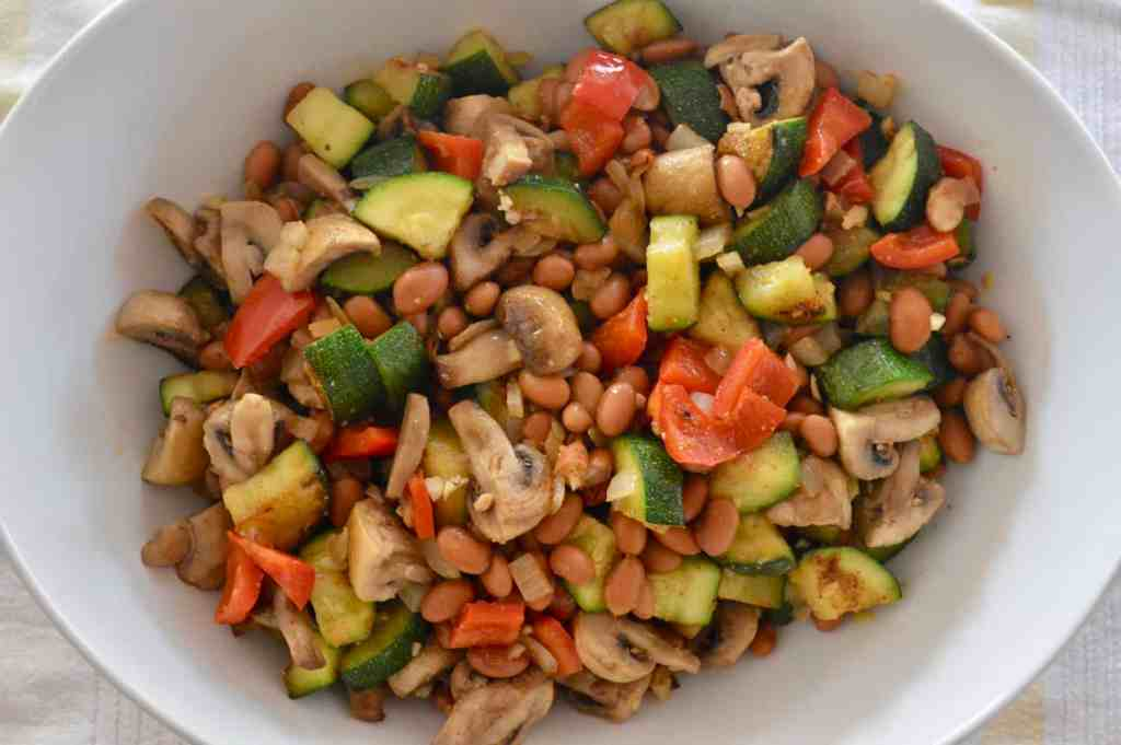 Pan Roasted Vegetables and Beans