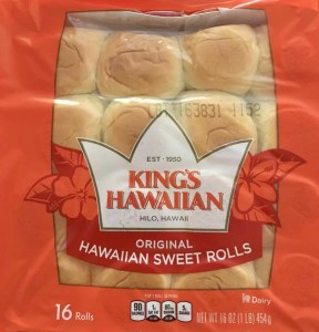 King's Hawaiian Rolls for Ham and Cheese Sliders
