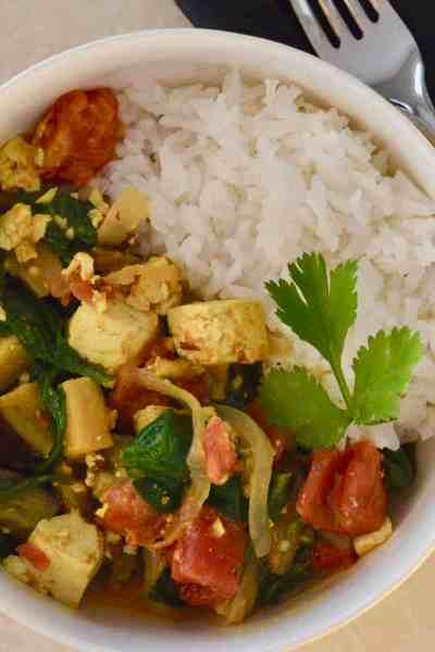 tofu eggplant curry