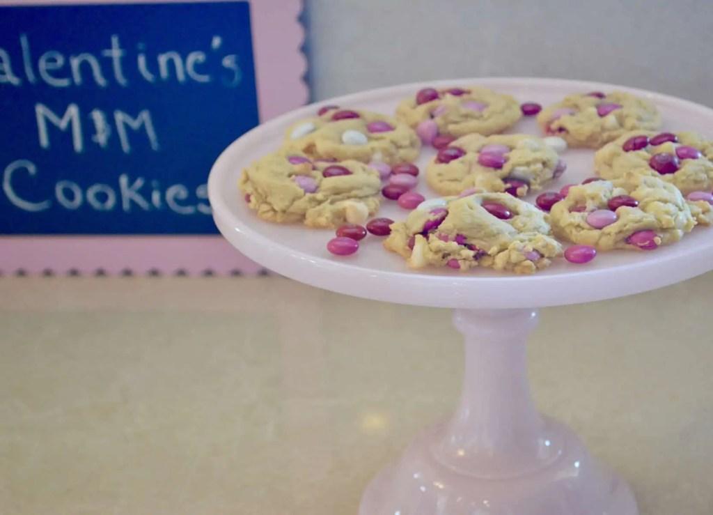 Valentine's Day M&M Cookies
