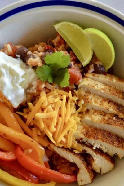 Mexican Chicken Fajita Bowl