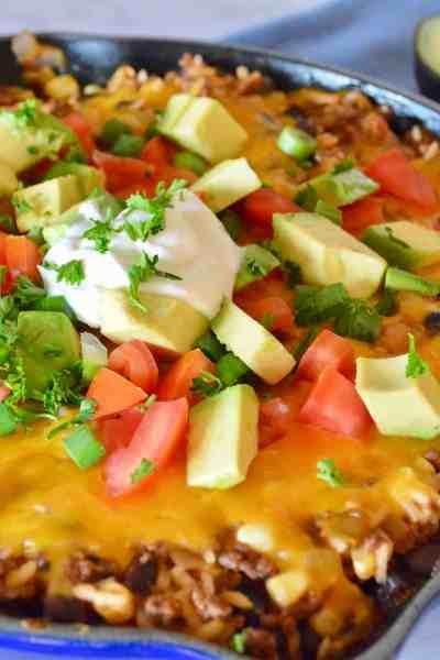 Cheesy Skillet Burritos