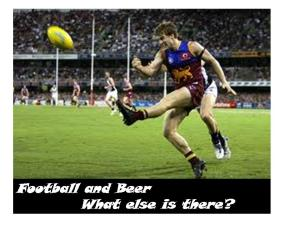 Beer adn Football
