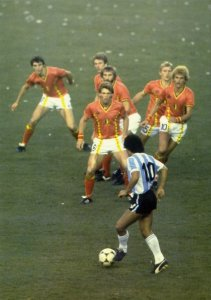 Maradona and belgium Diego Maradona, El Diego, the legend