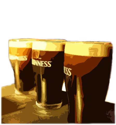 Dublin bar crawl. Ten pints of Guinness, ten pubs