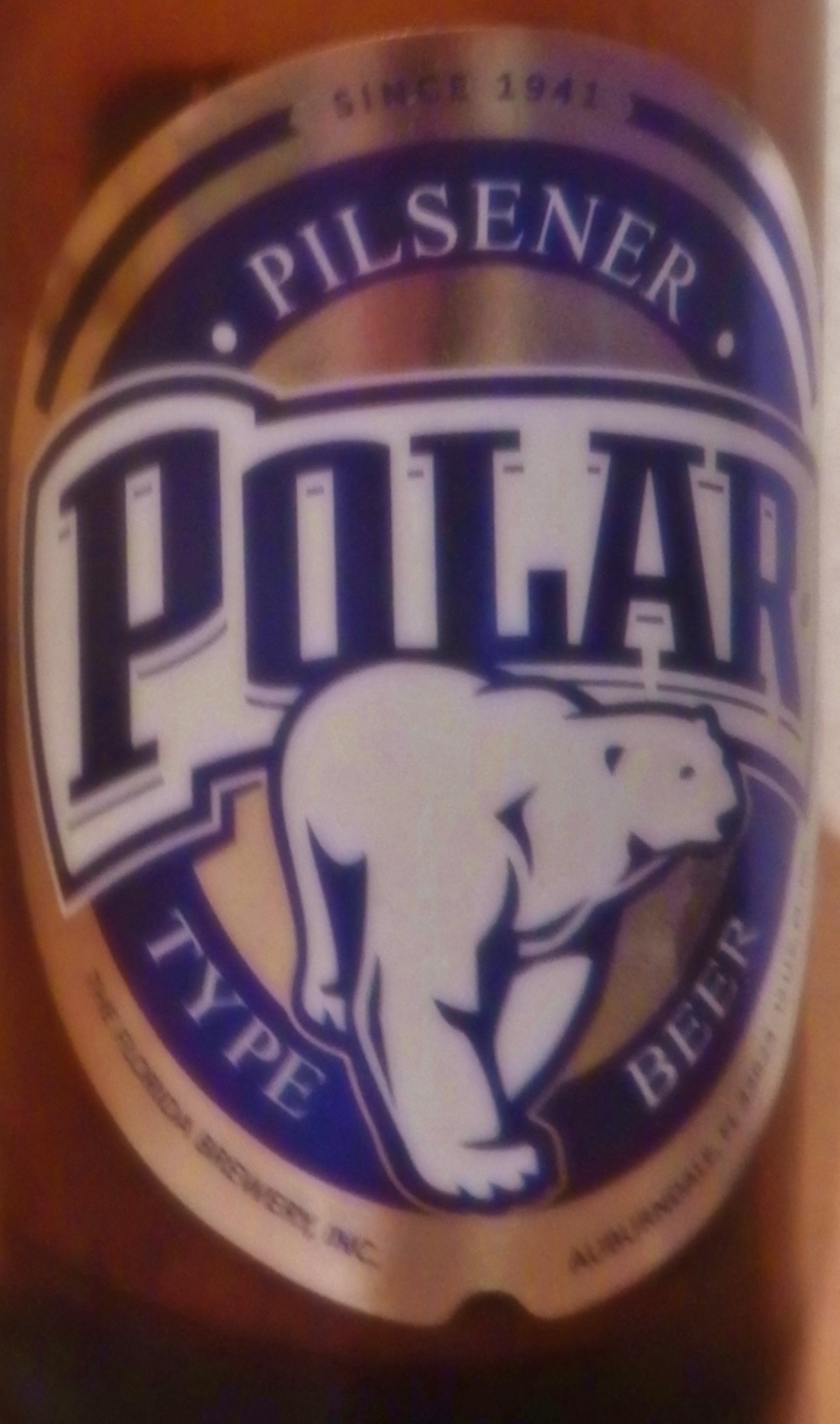 Polar beer from Venezuela. The perfect vacation beer