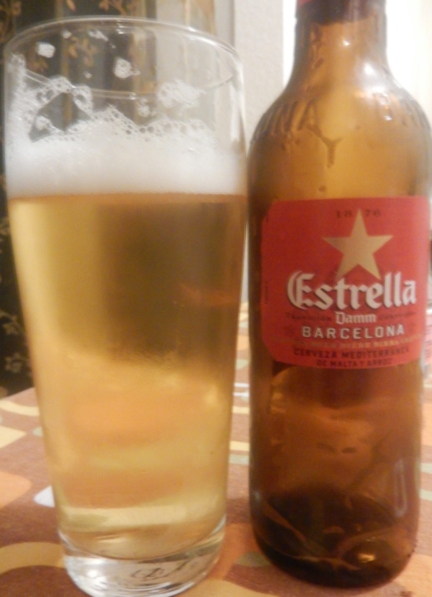 "Estrella Damm, the Mediterranean beer, ""The beer from Barcelona"""