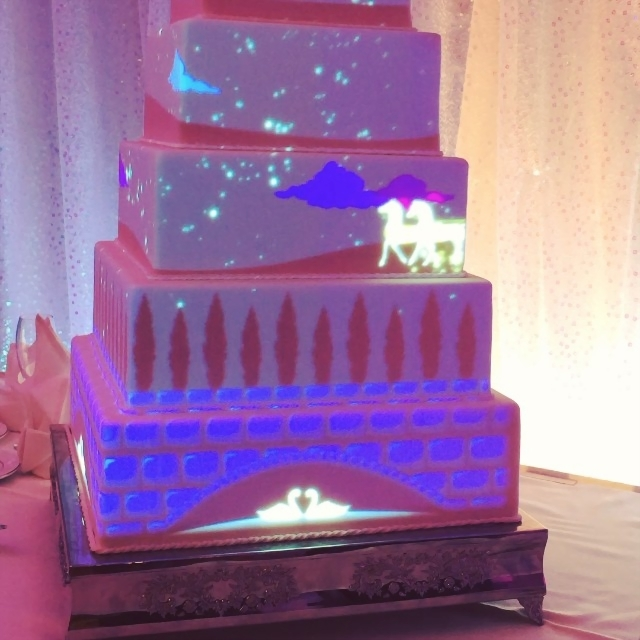 disney wedding cake  raquo  You Can Now Have a Light Show Projected on Your Disney Wedding Cake     You Can Now Have a Light Show Projected on Your Disney Wedding Cake