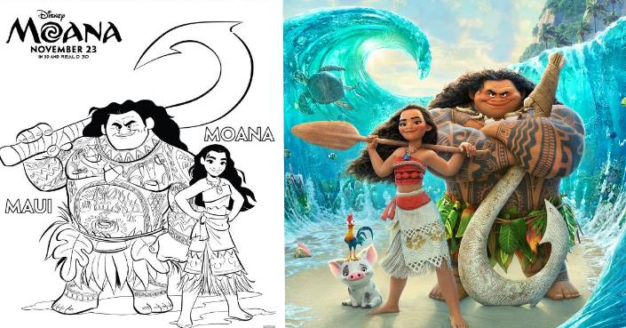 MOANA Coloring Pages And Printables This Fairy Tale Life