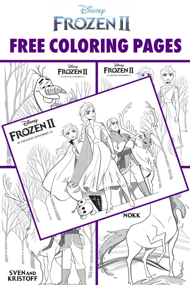 Free Frozen 2 Printable Coloring Pages And Activities