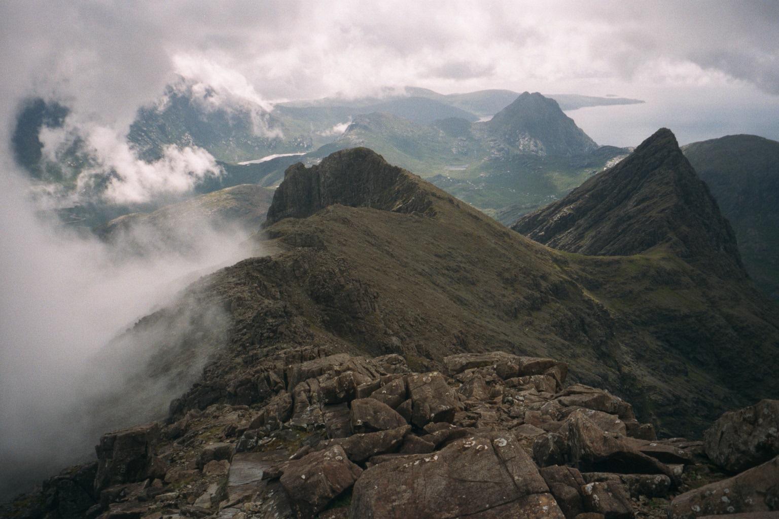 The Cuillin ridge, Skye, from Sgurr nan Gillean