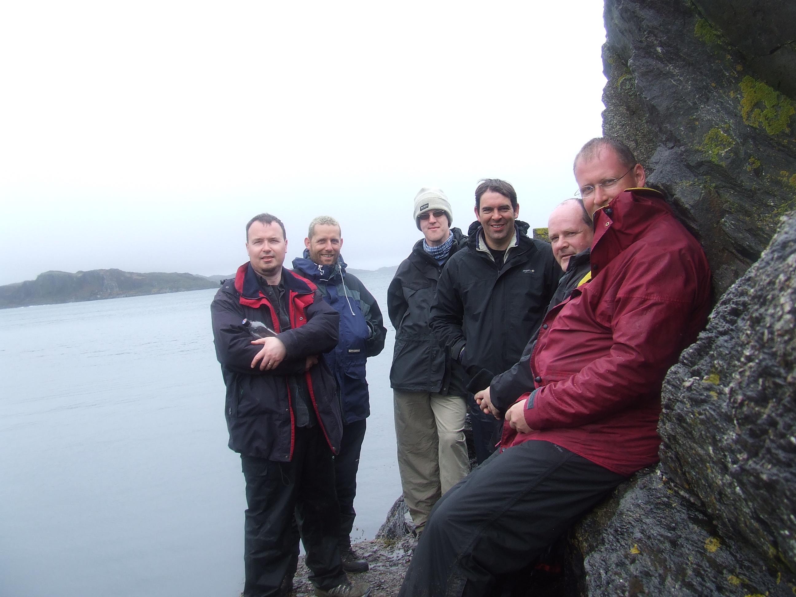 (L to R) Simon R, Nick, David, Andy, Simon M and me