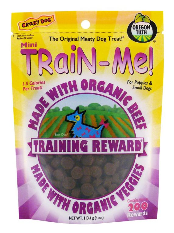 Crazy Dog 4oz Organic Beef Train-Me! Treats