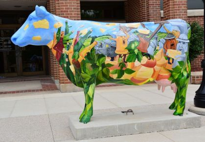 The cows are immortalized in Green County