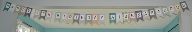 Happy Birthday Aiden-a-saurus Banner