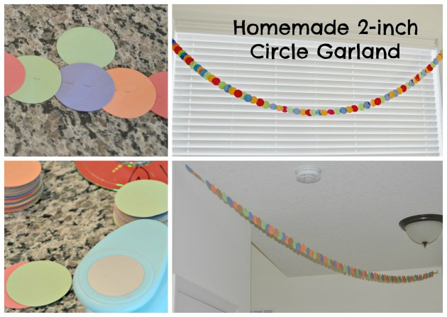 Homemade 2-inch circle garland