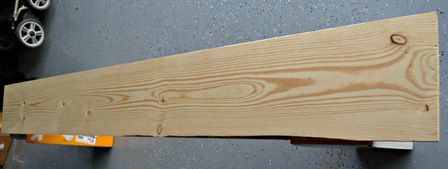 Sand to remove any loose wood pieces and place on boxes to elevate from the floor