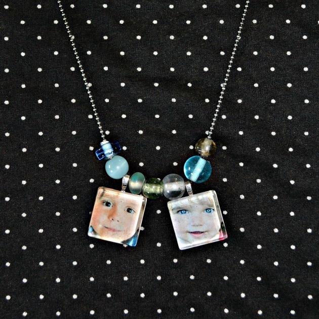 DIY Photo Pendant Beaded Necklaces | www.thisgratefulmama.com