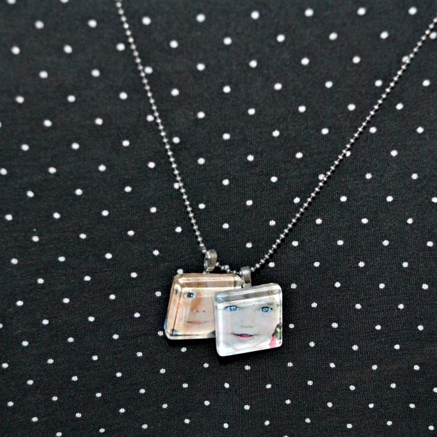 DIY Photo Pendant Beaded Necklaces | www.thisgratefulmama.com