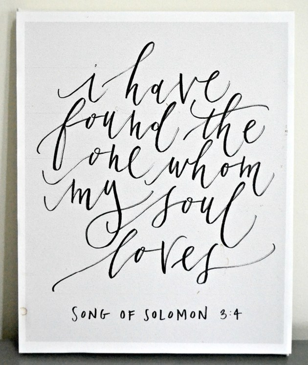 I Have Found The One Whom My Soul Loves | www.thisgratefulmama.com