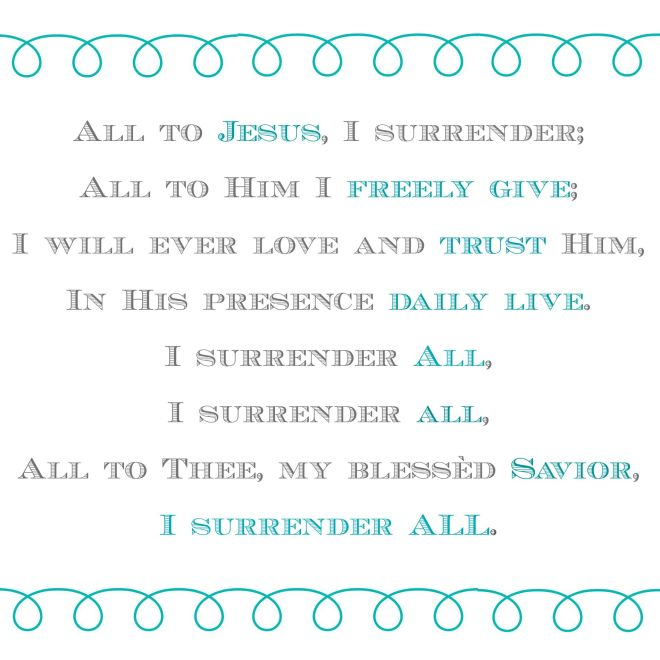 Surrender | thisgratefulmama.com