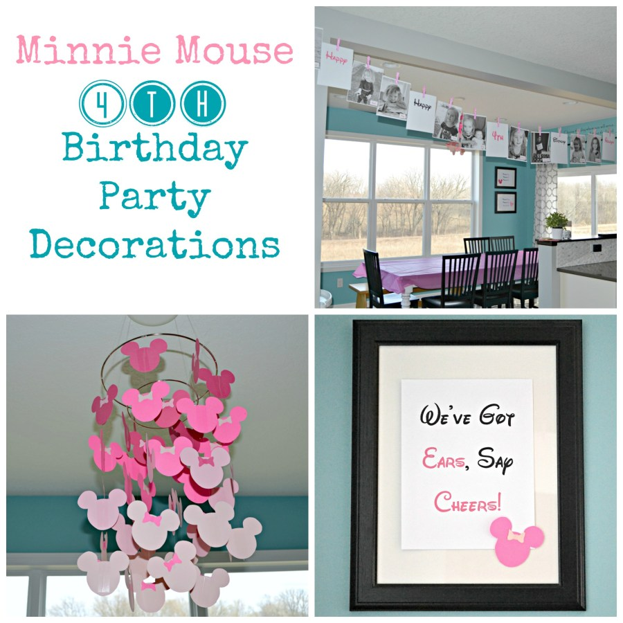 Minnie Mouse 4th Birthday Party Decorations