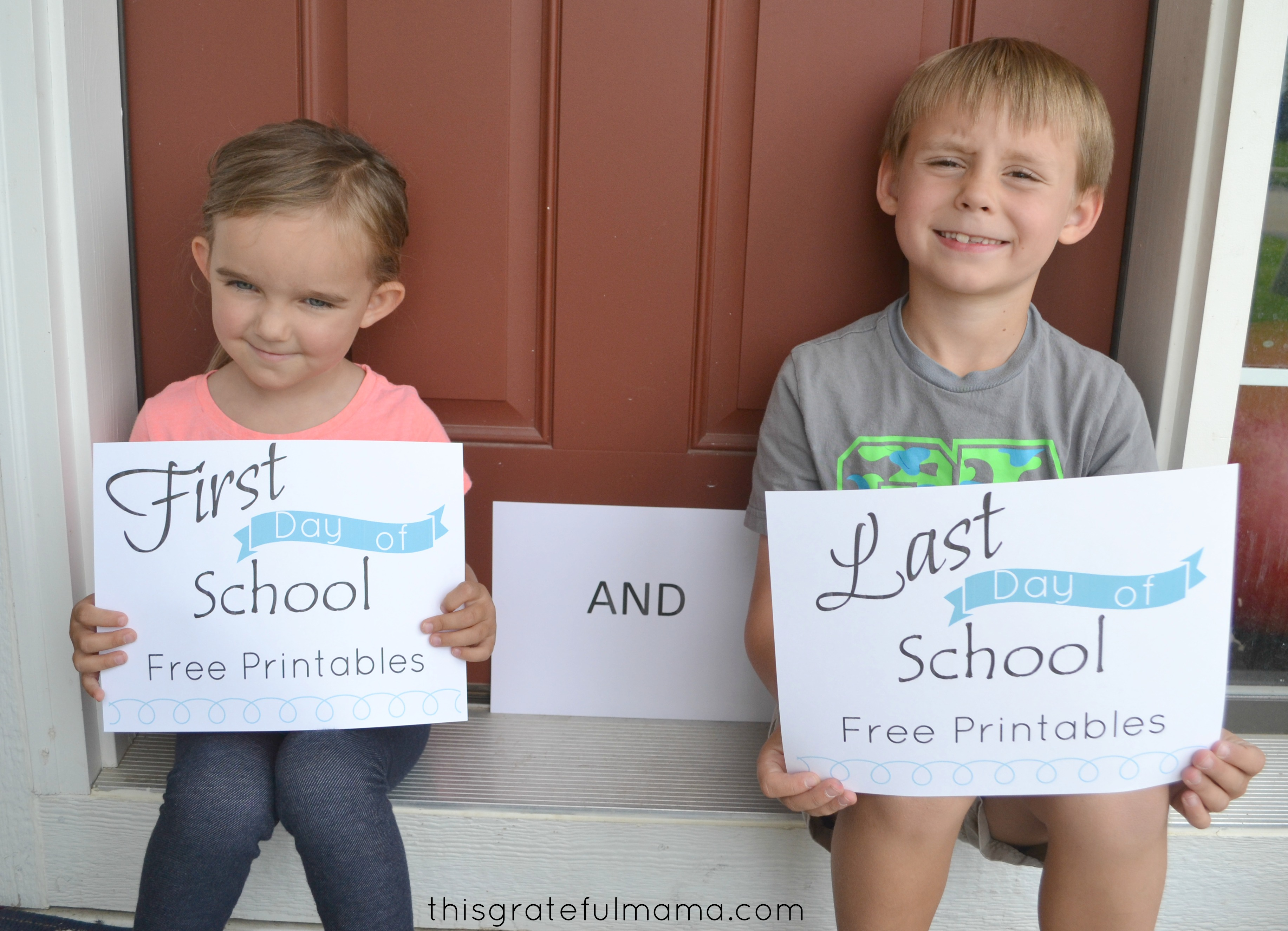 First Day Of School Sign Free Printable With Matching