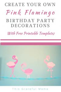 photograph regarding Free Printable Birthday Decorations identified as Do it yourself Crimson Flamingo Birthday Bash Decorations Cost-free