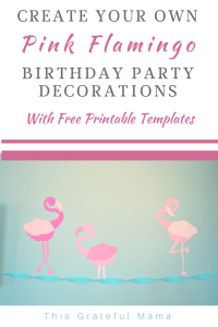 It's easy to create your own pink flamingo flock for a birthday party using these free printable templates! | thigratefulmama.com #flamingo #birthday #girl #decorations #printable #templates #Flamingos #Flock #girlbirthday #birthdaygirl #fifthbirthday #5thbirthday #diy