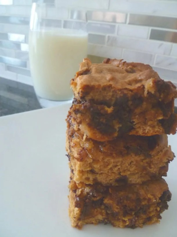 Campfire Blondies -- Ooey gooey chocolate chips and melt in your mouth marshmallows, make these Campfire Blondies an instant summer hit. #sweets |thishappymommy.com