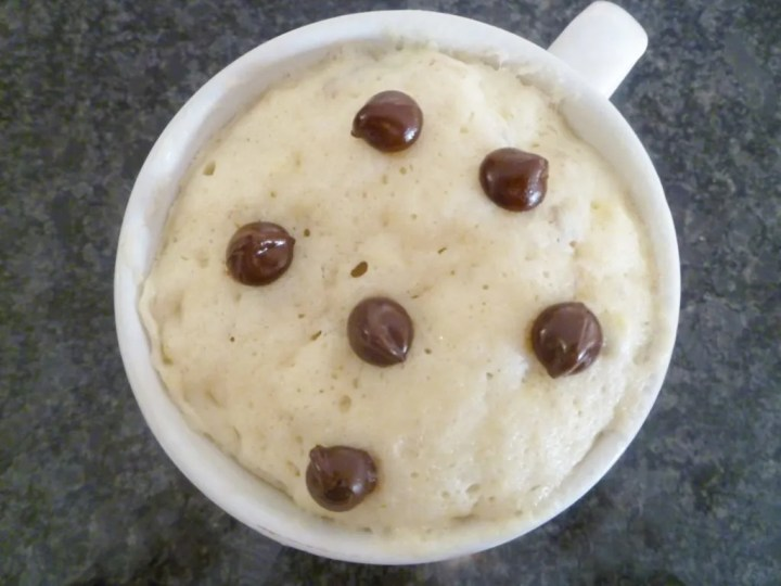 Chocolate Chip Banana Mug Cake